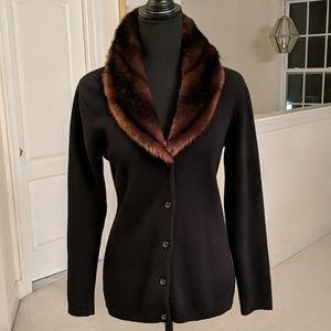 Faux Fur Collared Sweater